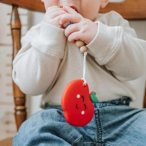 View larger image of Red Apple Teether & Clip