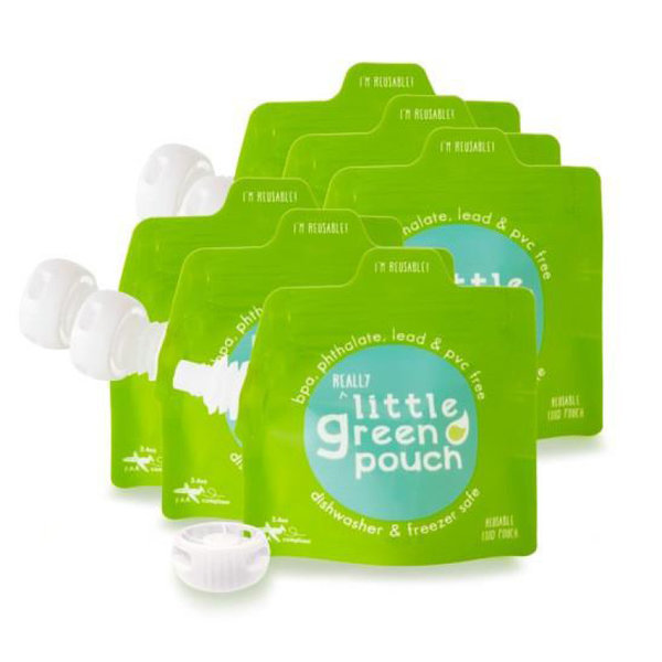 View larger image of Reusable 3.4oz Food Pouch - 6 pack