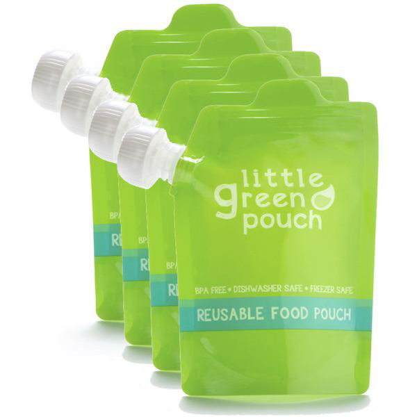 View larger image of Reusable 7oz Food Pouch - 4 pack