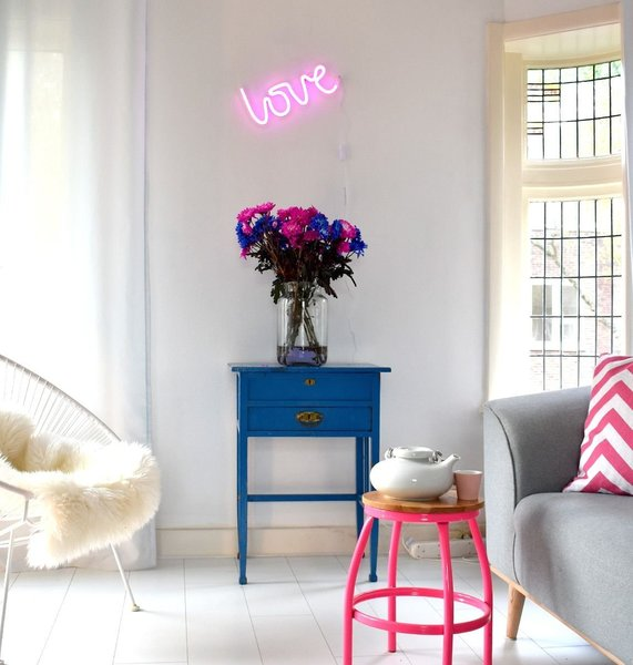 View larger image of Neon Light - Love - Pink