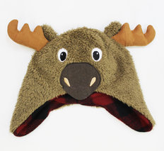 Infant Moose Fuzzy Hat
