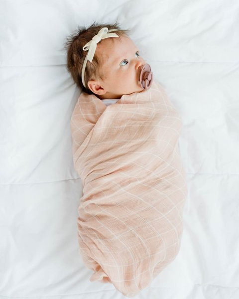 View larger image of 2pk Muslin Swaddle - Swim Cap
