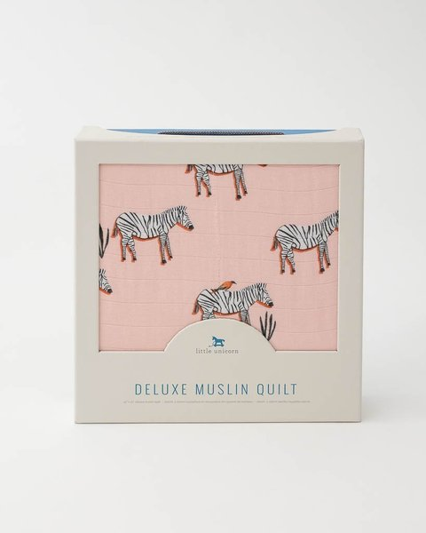 View larger image of Deluxe Muslin Quilt - Zebra