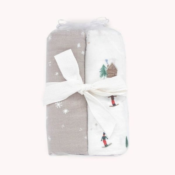 View larger image of Deluxe Muslin Swaddle - 2pk - Powder Party