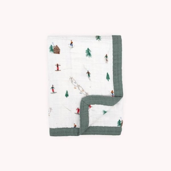 View larger image of Muslin baby Blanket - Powder Party