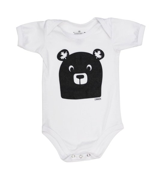 View larger image of Bear Face Onesie - White