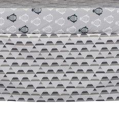 Bed Skirt - Grey Triangle