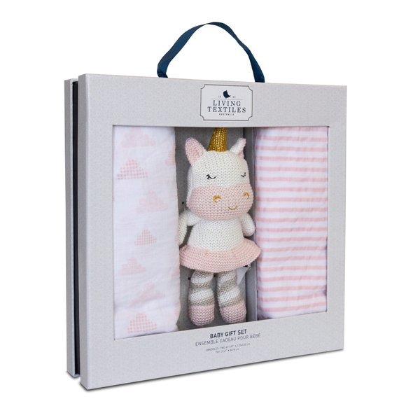 View larger image of Bento Gift Set - 2pk Muslin Swaddle + Unicorn