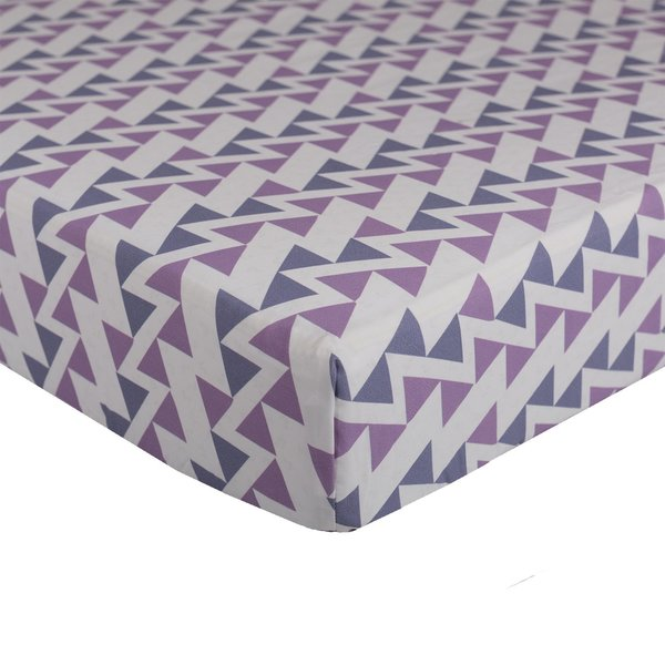 View larger image of Crib Sheet - Purple Zig Zag