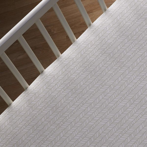 View larger image of Crib Sheet-Tan Herringbone