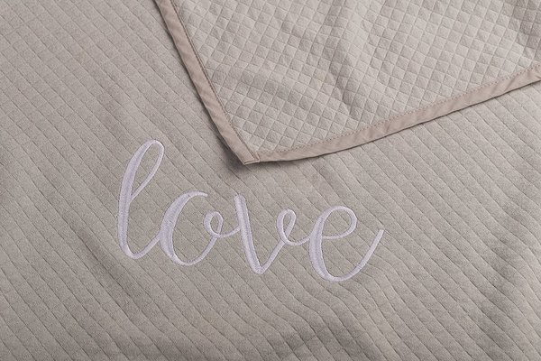 View larger image of Matelasse Coverlet - Grey Love