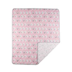Quilted Comforter-Pink Owl