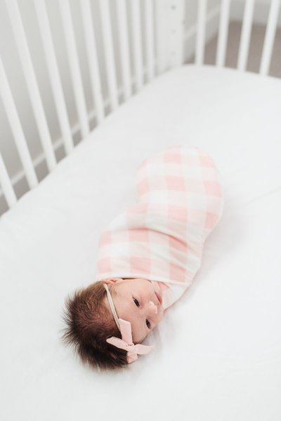 View larger image of Knit Swaddle Blanket - London