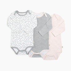 Long Sleeve Onesie 3pk - Girl - 24M