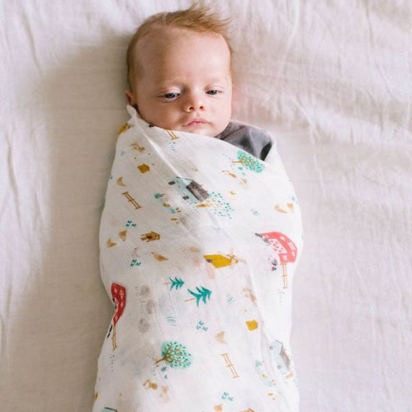 View larger image of Muslin Swaddle - Animal Farm