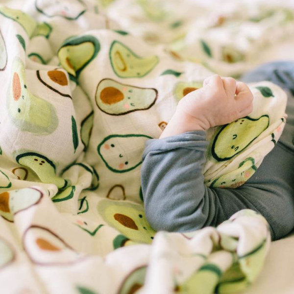 View larger image of Muslin Swaddle - Avocado