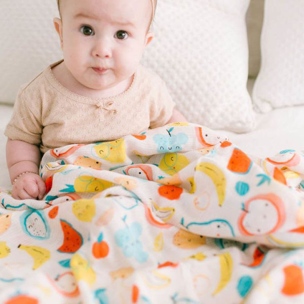 View larger image of Muslin Swaddle - Cutie Fruits