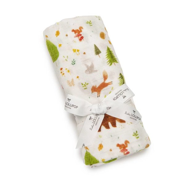 View larger image of Muslin Swaddle - Forest Friends