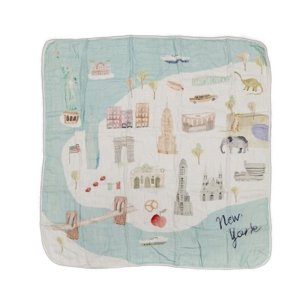 View larger image of Luxe Muslin Swaddle - World Cities