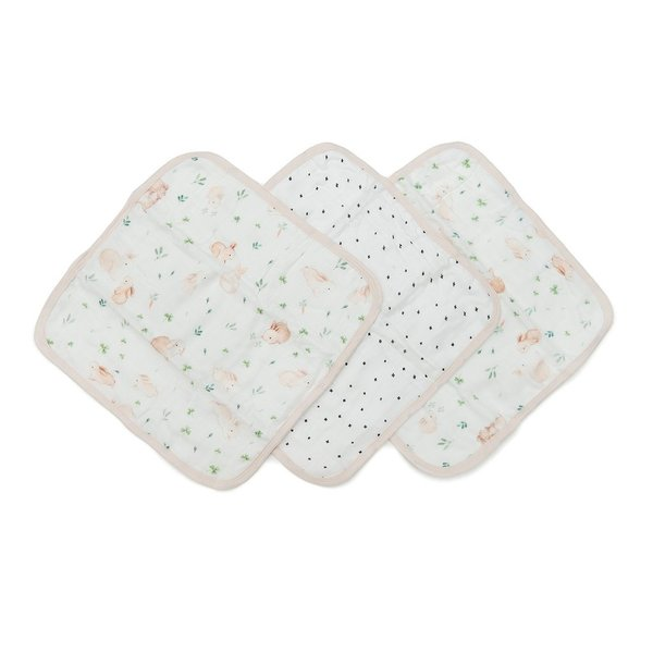 View larger image of Muslin Washcloth 3-pc Sets