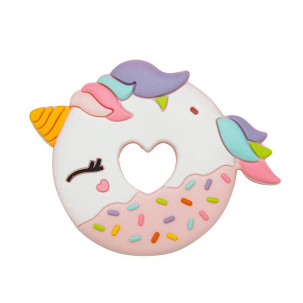 View larger image of Pink Unicorn Donut Silicone Teether