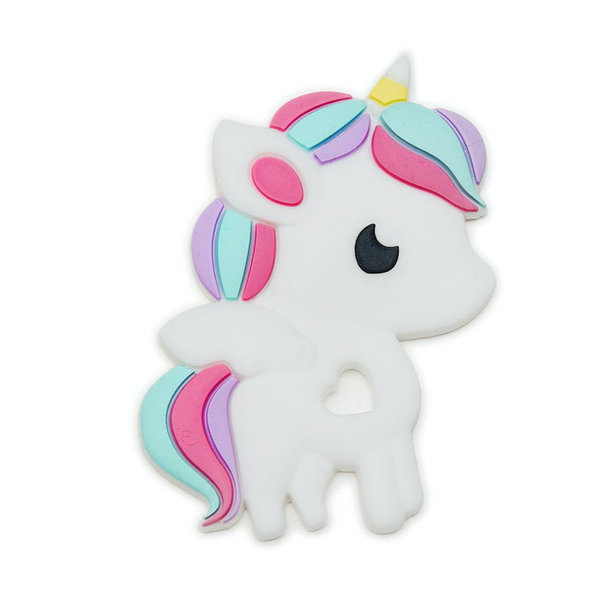 View larger image of Rainbow Unicorn Silicone Teether