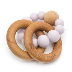 Wood and Silicone Rattle Teether