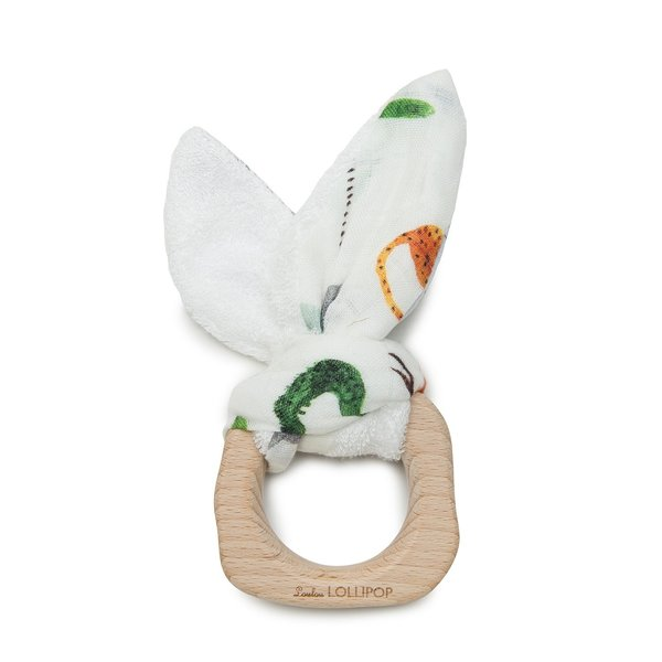 View larger image of Wooden Bunny Ear Teething Ring