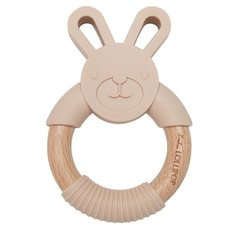 Bunny Silicone and Wood Teethers