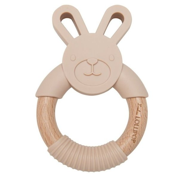 View larger image of Bunny Silicone and Wood Teethers