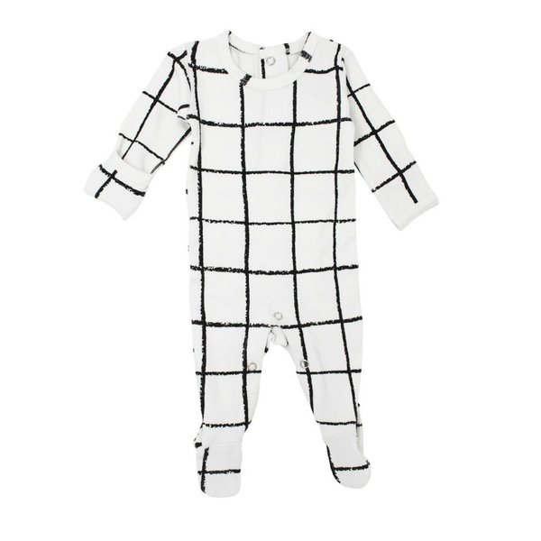 View larger image of Organic Graphic Footie - Hopscotch - 6-9M