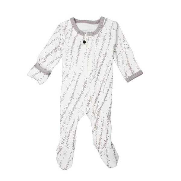 View larger image of Organic Zipper Footed Sleeper - Gray