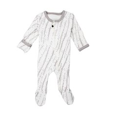 Organic Zipper Footed Sleeper - Gray