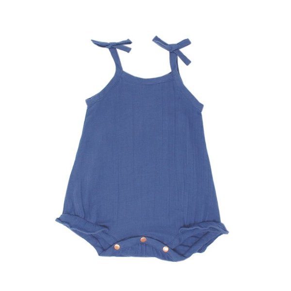 View larger image of Organic Muslin Ruffle Bodysuit - Slate