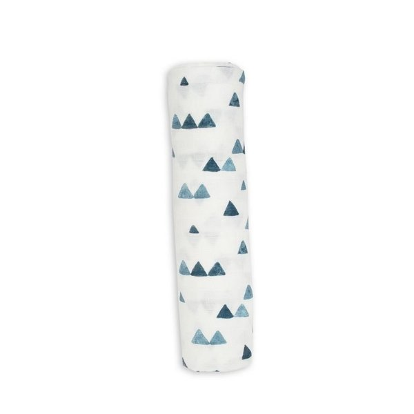 View larger image of Deluxe Muslin Swaddle - Navy Triangle
