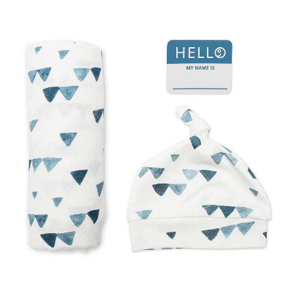 View larger image of Hello World Blanket & Knotted Hat Set