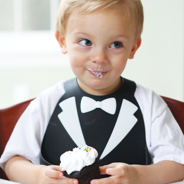 View larger image of Make My Day Bib - Tuxedo