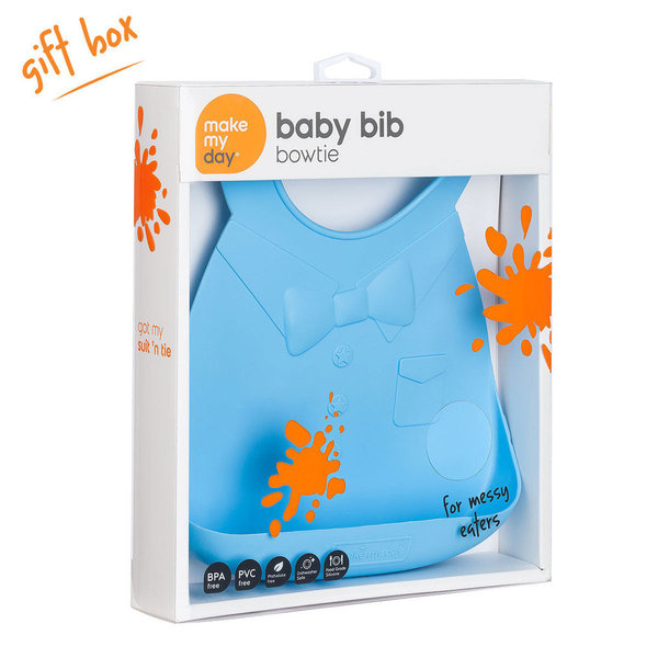 View larger image of Make My Day Bib - Blue Bow Tie