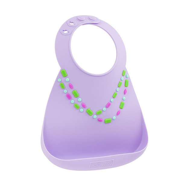 View larger image of Make My Day Bib - Lilac Jewel