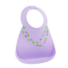 Make My Day Bib - Lilac Jewel