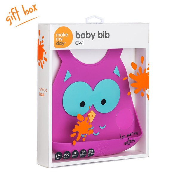 View larger image of Make My Day Bib - Owl