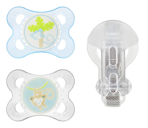 View larger image of Nature Pacifiers & Clip