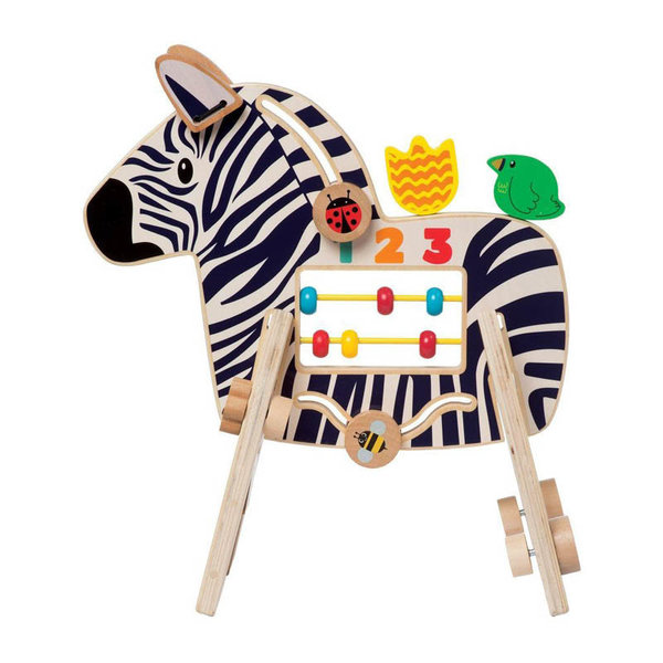 View larger image of Safari Zebra Wood Activity Toy
