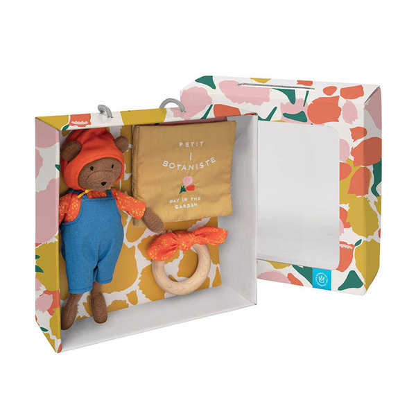 View larger image of Soft Book, Bunny Toy & Wooden Teether Gift Set