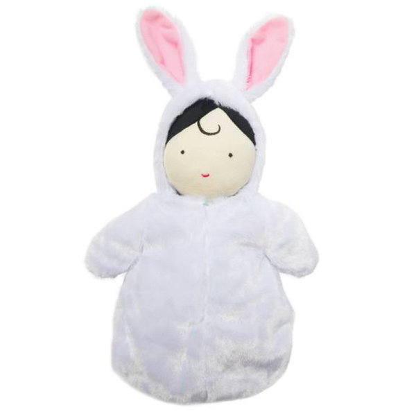 View larger image of Snuggle Baby Hooded Sleep Sack Doll
