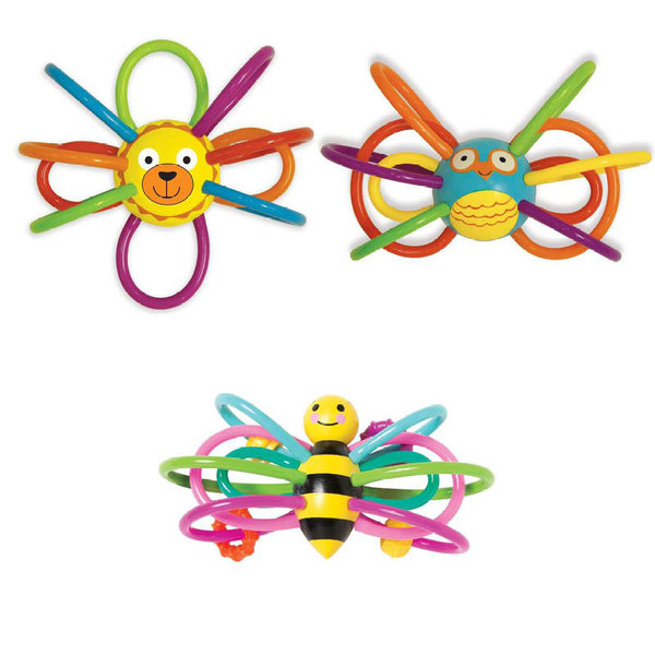 View larger image of Winkel Teether Rattle Toy - Animals