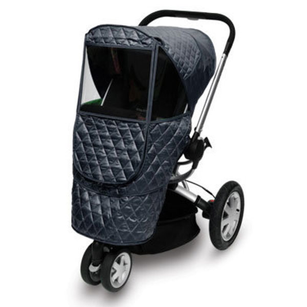 View larger image of Castle Beta Quilted Stroller Weather Shield - Navy