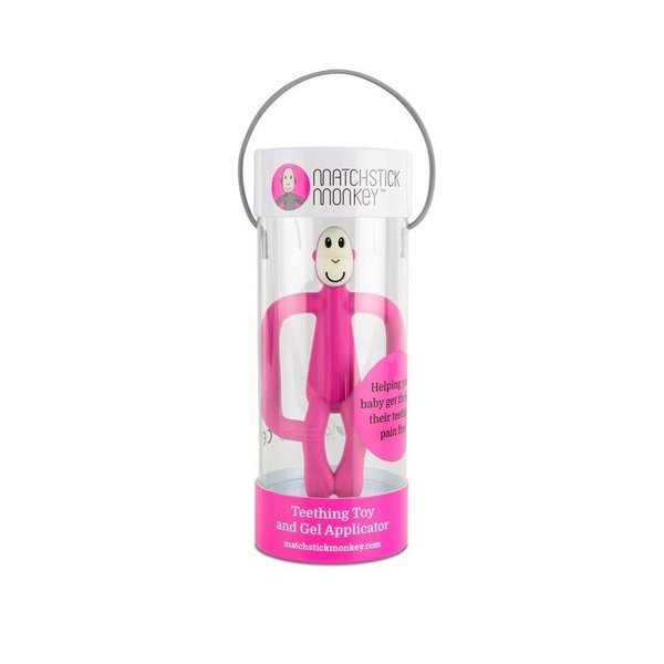 View larger image of Matchstick Monkey Teether Toy - Pink
