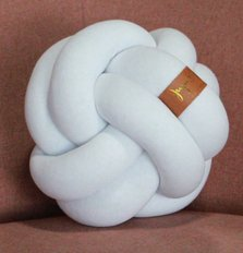 Medium Knot Pillow - White