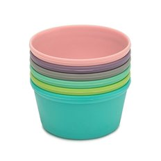 Rainbow Silicone Food Cups - 6 Piece